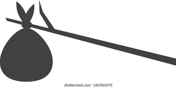 Bindle icon, vector line illustration