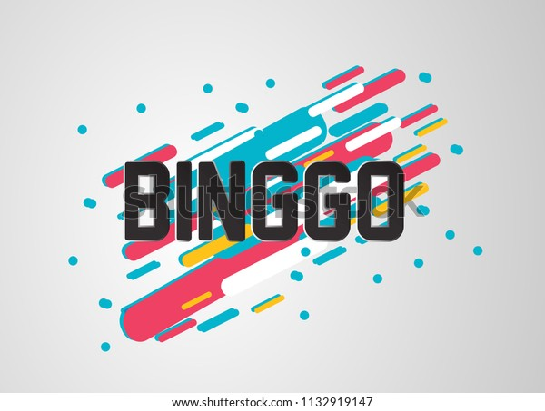 binggo, beautiful greeting card background or banner with sport theme. vector
