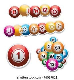 bingo ball sticker set