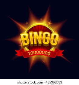 """Bingo"" banner illustration. Esp10 vector."