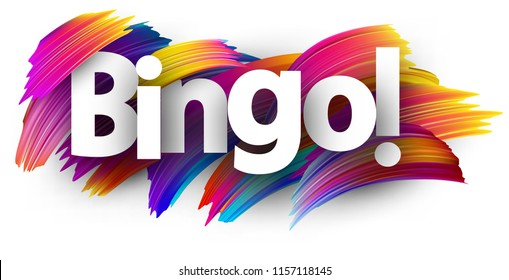 Bingo card. Colorful brush design. Vector background.
