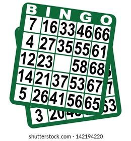 Bingo card on a white background. Vector illustration.