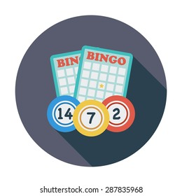 Bingo. Flat icon for mobile and web applications. Vector illustration.