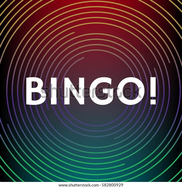 Bingo illustration. White letters on abstract outline background. Element for your design. Vector eps 10.