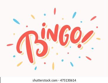 Bingo! Lettering.