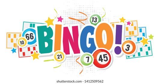 Bingo ! with lottery balls and bingo card