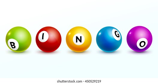 Bingo lottery balls letters background gamble. Bingo lottery game balls isolated. Realistic illustration opportunity