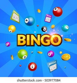 Bingo lottery poster background.