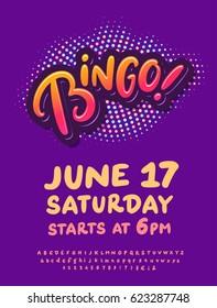 Bingo night. Poster template.
