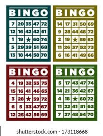 Bingo retro cards