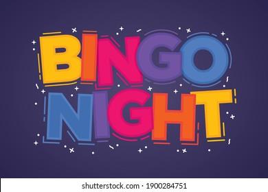 Bingo Text, Bingo Background, Bingo Game, Bingo Logo, Nursing Home Game Typography, Vector Illustration Background