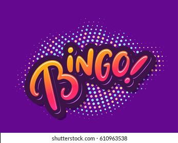 Bingo! Vector card.