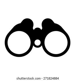 Binocular field glasses flat vector icon for apps and websites