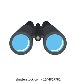 Binocular icon. Flat design. Isolated.