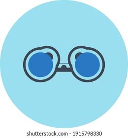 Binocular icon. travel binocular, camera zoom, camera lens, lens binocular icon.