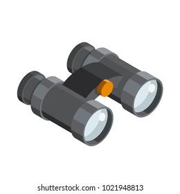 Binoculars 3D isometric icon