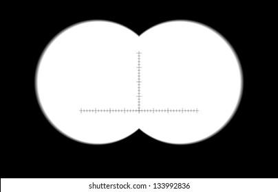 Binoculars with blurred, soft edges. Vector illustration. sharp edges Image ID:135554507