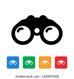 Binoculars flat icon graphic design