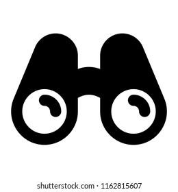 Binoculars Glyph Icon Vector