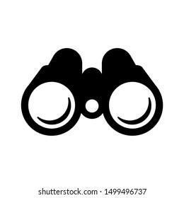 binoculars icon. black on a white background. eps
