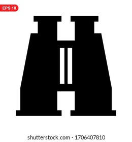 binoculars icon or logo isolated sign symbol vector illustration - high quality black style vector icons