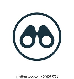 binoculars icon on white background