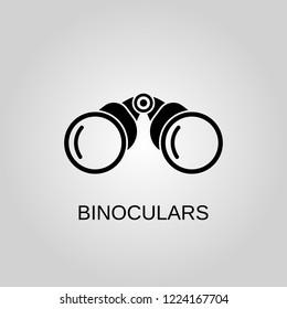 Binoculars icon. Binoculars symbol. Flat design. Stock - Vector illustration