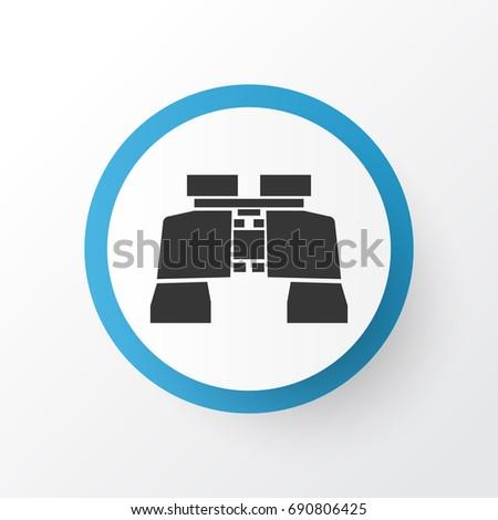 Binoculars Icon Symbol Premium Quality Isolated Stock Vector