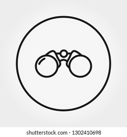Binoculars icon. Universal icon for web and mobile application. Vector illustration on a white background. Editable Thin line.