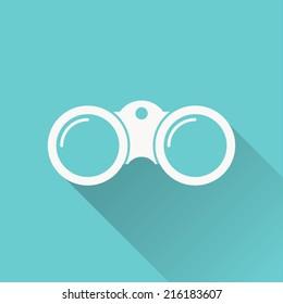 binoculars icon , vector illustration , flat design