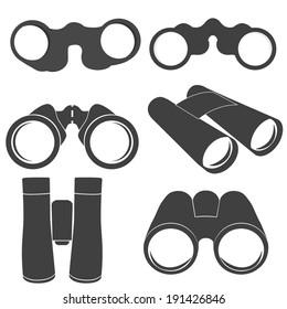 Binoculars icons