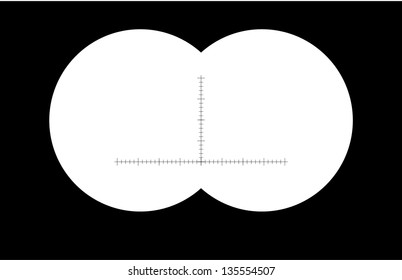 binoculars with sharp edges. Vector illustration soft , blurred edges Image id : 133992836