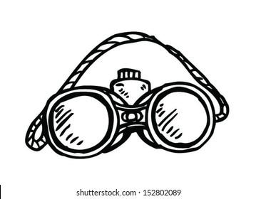 binoculars simple drawing