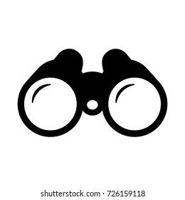 Binoculars. Vector.