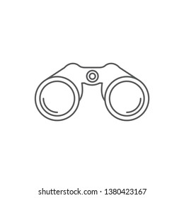 Binoculars vector icon illustration design isolated on white