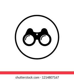 Binoculars vector icon, modern symbol. Simple, flat design for web or mobile app