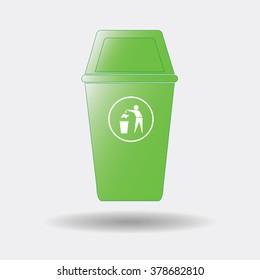 Bin,recycle icon, vector illustration