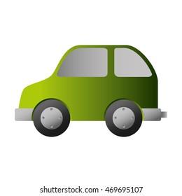 bio car green auto vehicle eco nature environmental vector illustration isolated