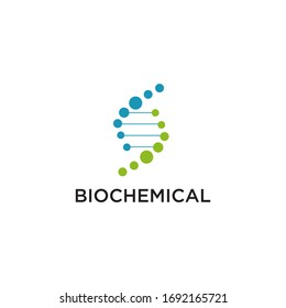 Bio chemical company logo design with using molecule connection icon template