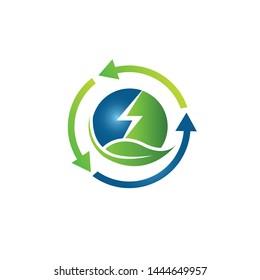 Bio energy vector illustration. Minimal bioenergy or green eco energy banner on white background