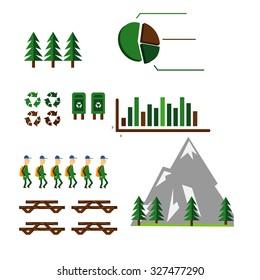 bio food ecology knife fork plate green logo design