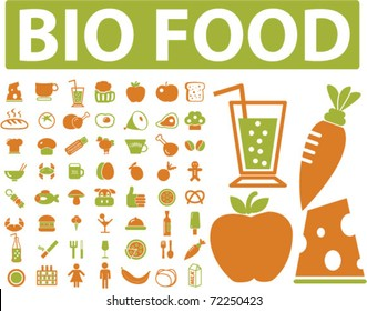 bio food signs. vector