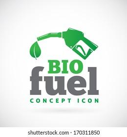 Bio fuel vector symbol icon or logo