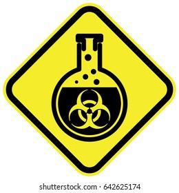 Bio hazard warning sign. Vector illustration