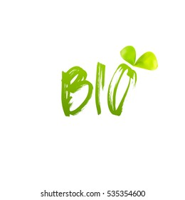 Bio logo design vector on white background. Leaf icon