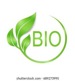 Bio vector logo design.