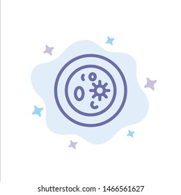 Biochemistry, Biology, Chemistry, Dish, Laboratory Blue Icon on Abstract Cloud Background. Vector Icon Template background