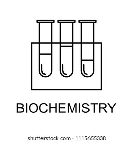 biochemistry line icon. Element of medicine icon with name for mobile concept and web apps. Thin line biochemistry icon can be used for web and mobile on white background