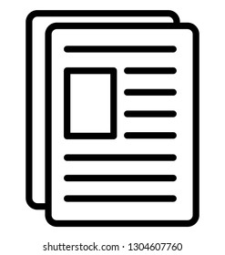 Biodata Isolated Vector Icon that can be easily modified or edit