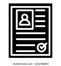 Biodata Isolated Vector Icon which can easily modify or edit